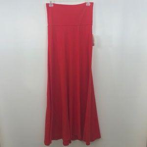 LulaRoe Maxi Skirt XS Red